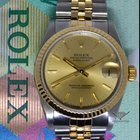 Rolex Datejust 18k Yellow Gold/Steel Champagne Dial Midsize...