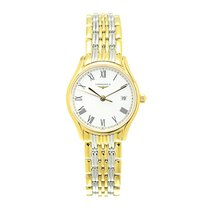 Longines Lyre Gold-plated Stainless Steel White Quartz...