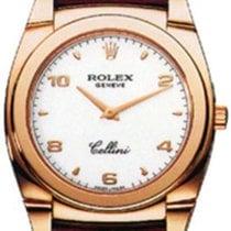 Rolex Cellini Cestello Ladies 5320-5 White Arabic / Index Rose...