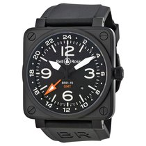 Bell & Ross Men's BR0193-GMT  Aviation GMT  Automatic...