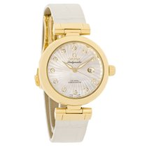 Omega Deville Ladymatic Diamond 18K Swiss Watch 425.60.34.20.5...