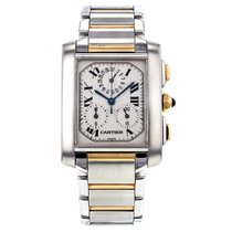 Cartier Tank Francaise Chronograph Steel And Yellow Gold...