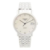 Longines Elegant Stainless Steel With Diamonds White Automatic...