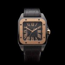 Cartier Santos 100 DLC Black DLC Coated Stainless Steel Unisex...