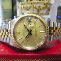 Rolex Oyster Perpetual Date 34mm Stainless Steel 18k Yellow...
