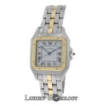 Cartier Mint Ladies Midsize   Panthere 110000R One Row 18K...