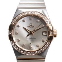 Omega Constellation 18k Rose Magic Diamond Silver Automatic...