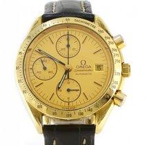 Omega 1991 Omega Speedmaster 18k Yellow Gold Chronograph 39mm...
