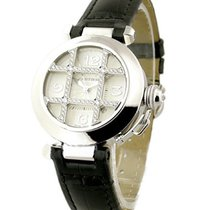 Cartier WJ116136 32mm White Gold Pasha on Strap - Diamond Grid