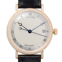 Breguet Classique 18 K Rose Gold With Diamonds Silver Automati...