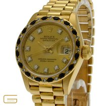 Rolex Lady DateJust 18K.Gold Diamanten Ref.69198