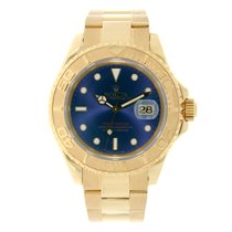 Rolex YACHT-MASTER 40mm 18K Yellow Gold Watch Blue Dial