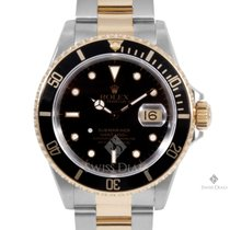 Rolex Submariner Steel and Gold Black Index Dial Black 60min...