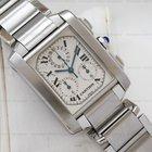 Cartier Tank Francaise Chronoflex Quartz Chronograph SS
