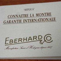 Eberhard & Co. vintage Warranty Certificate Papers...