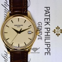 Patek Philippe Mens Calatrava 18k Gold Automatic Watch...