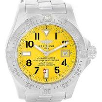 Breitling Aeromarine Avenger Seawolf Yellow Dial Mens Watch...