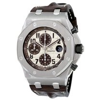 Audemars Piguet Royal Oak Offshore Ivory Dial Brown Alligator...
