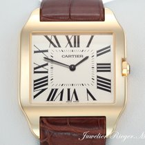 Cartier Santos Dumont Großes Modell Gelbgold 750 Handaufzug...