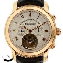 Audemars Piguet Solid 18k Rose Gold Jules Tourbillon Chronogra...