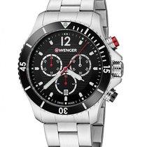 Wenger Sea Force Mens Dive Chronograph - Black Dial - Bracelet...
