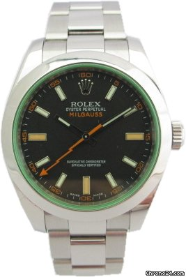 Rolex MILGAUSS 116400GV VETRO VERDE GREEN FULL SET Seriale V 2010