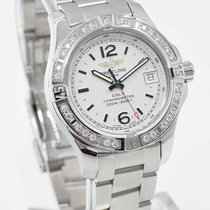Breitling Colt Lady Diamond Bezel with Stratus Silver Dial...