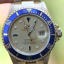 "Rolex Submariner 18k Yellow Gold 40mm ""z"" 16618..."