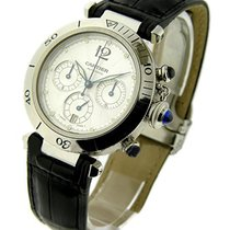 Cartier W3103055 Pasha - Chronograph in Steel - On Black...