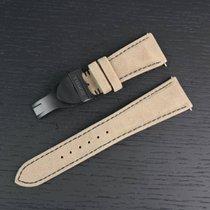 Tudor 22mm Brown Leather Strap + Deployant Black Shield Bay...