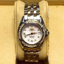 Breitling 1884 Callistino 2 Tone Ladies Watch W/ Mop Factory...