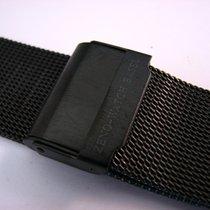Zeno-Watch Basel ZENO Milanaiseband schwarz mit Faltschließe
