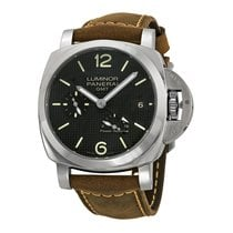 Panerai Luminor 1950 Power Reserve Automatic Black Dial Brown...