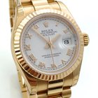 Rolex Lady Date President Roségold Pink gold white roman dial