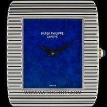Patek Philippe 18k W/G Very Rare Lapis Lazuli Dial Ribbed Case...