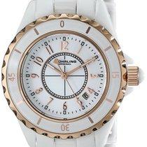 Stuhrling White Ceramic Quartz Watch 530.114ew3