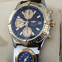 Breitling Chronomat GT Gold Steel UTC Black Dial 39 mm (Full...
