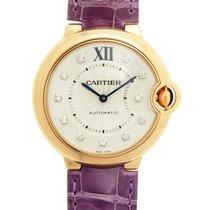 Cartier Ballon Bleu 18k Rose Gold Silver Automatic WE902028