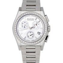 Gucci Pantheon Diamond Mother of Pearl Ladies Chronograph...