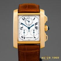 Cartier Tank Francaise Chronograph 18K Gold Lady Box & Papers