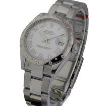 Rolex Unworn 178344 Mid Size Datejust in Steel with WG Diamond...