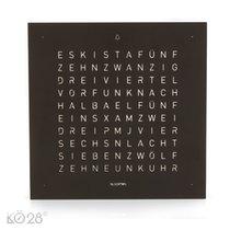 QLOCKTWO TOUCH - Deep Black  - Tischuhr / Wecker