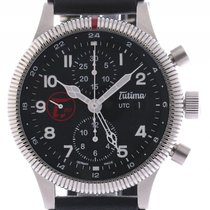 Tutima Grand Classic Chronograph UTC Stahl Automatik 43mm