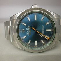 Rolex Milgauss 116400gv S/s 40mm Blue Green Sport Watch. Unworn