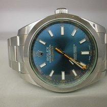 Rolex Milgauss 116400gv S/s 40mm Blue Green Sport Watch. Unworn
