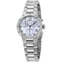 Bulova Mop Dial Diamond Stainless Steel Ladies Watch 96w202