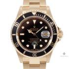 Rolex Submariner Yellow Gold Black Dial Black 60min Bezel...