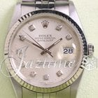 Rolex Datejust 16234 Factory Diamond Dial White Gold SS