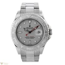 Rolex Oyster Yachtmaster Platinum Bezel Stainless Steel...