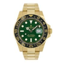 Rolex GMT-MASTER II 18K Yellow Gold Green Dial 2016